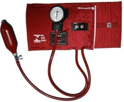 Kit Pressure Aparelho de Pressão Obeso com Garra de Metal NTL - 202 Vermelho