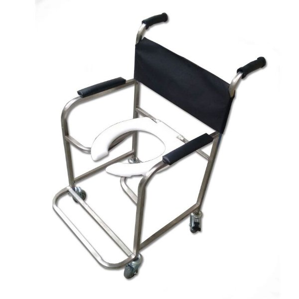 Aluguel Cadeira de Banho Inox - Obeso (até 120kg) Mod. Bliamed