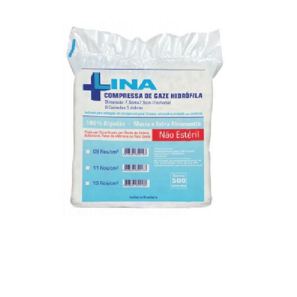 Compressa Cirúrgica de Gaze Hidrófila 9 Fios - LINA