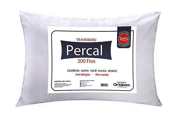 Travesseiro Antialérgico Percal 200 Fios - Ortobom
