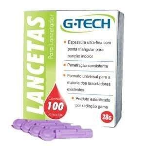 Lancetas G-tech 30g C/ 100 Lancetas
