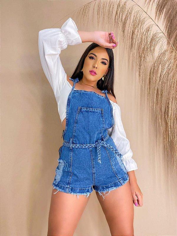 Macaquinho Jeans - Carolina