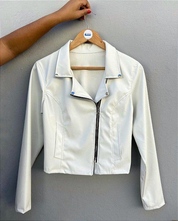 Jaqueta de couro white - Zara Inspired