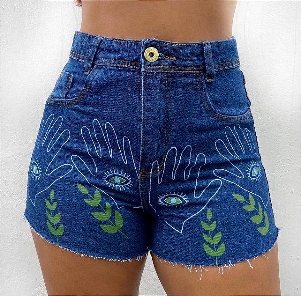 Shorts Jeans - Olho grego