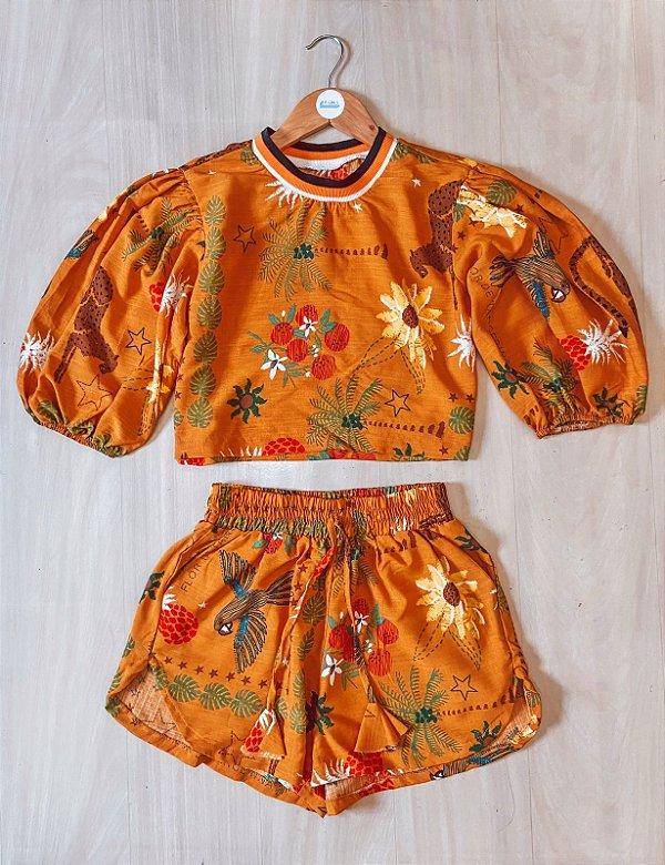 Conjunto blusa + short - Dominique II