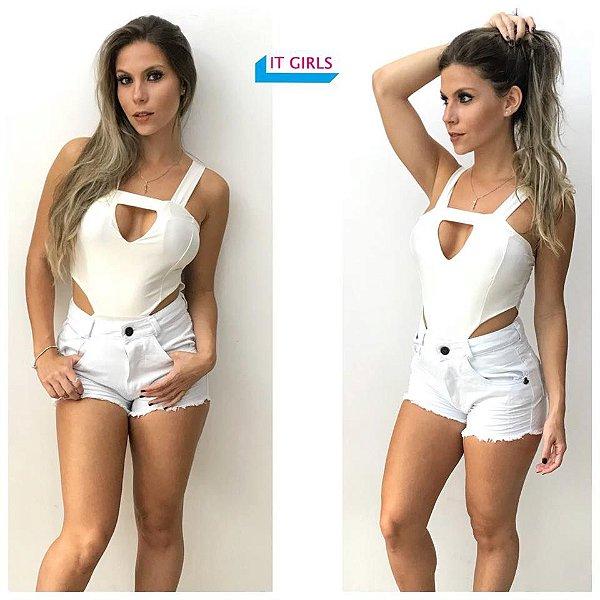 Short Jeans - Branco