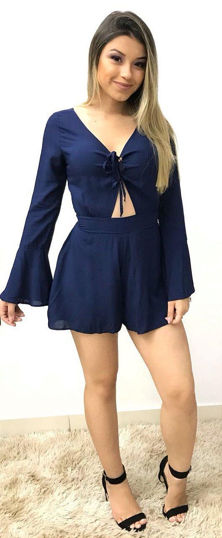 Macaquinho Giovanna - Azul Marinho