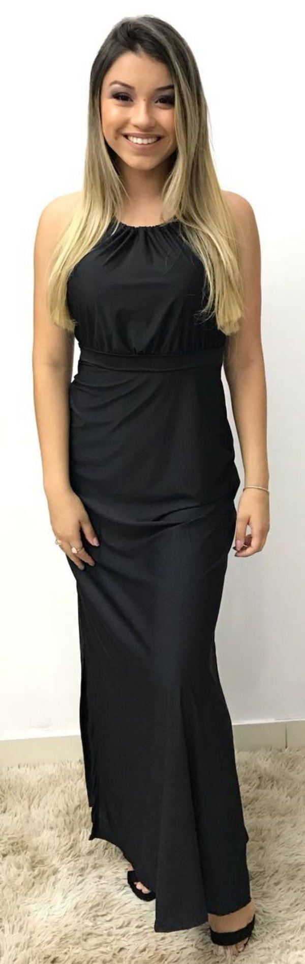 Vestgido longo preto - Patricia