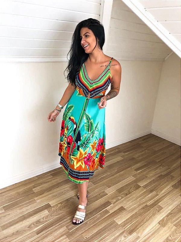 Vestido Tucanos - Verde Aqua