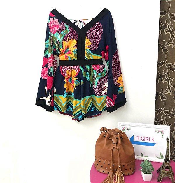 Macaquinho kimono - Flora