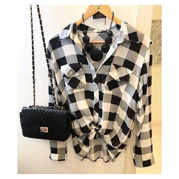 Camisa xadrez -P&B