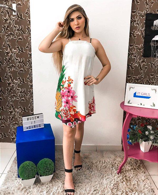 Vestido corte V - Branco