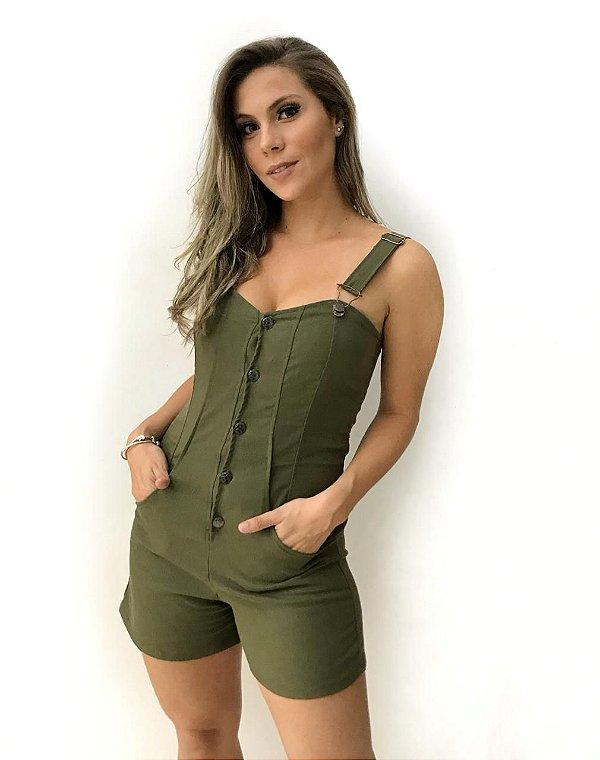 Macaquinho Jardineira - Militar