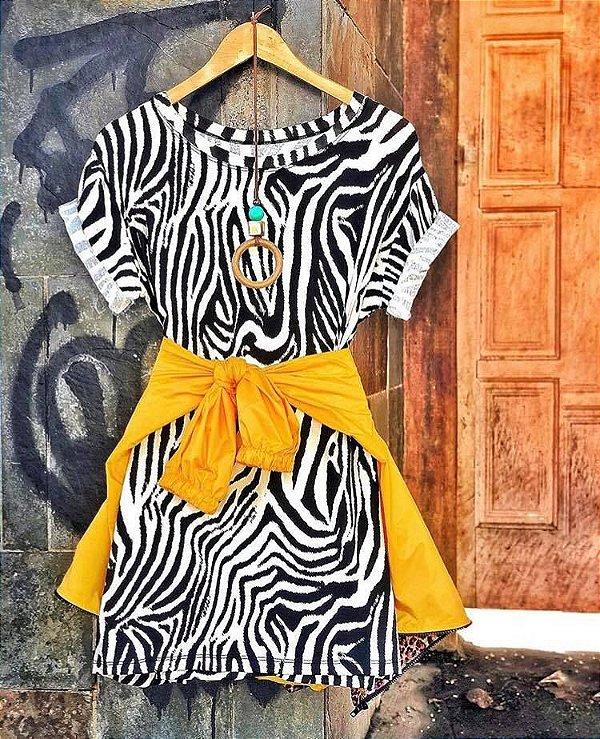 Vestido / Blusão - zebra