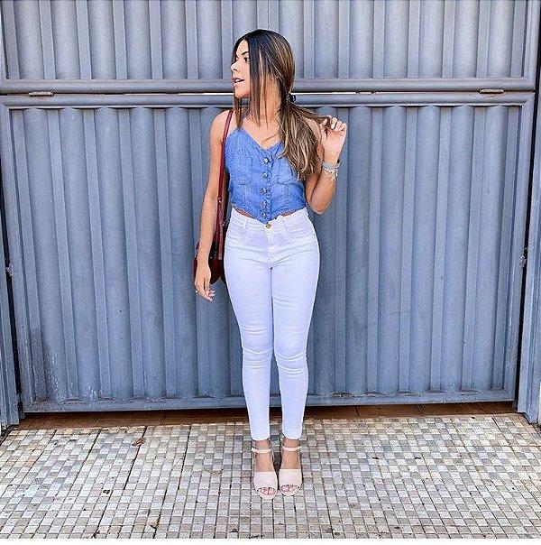 Calça Jeans branca - Lisa