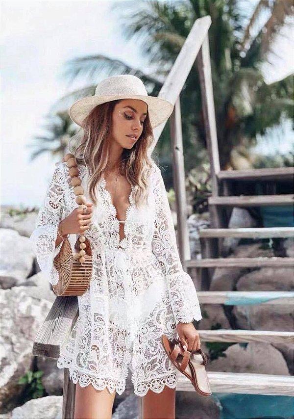 Kimono de renda - Praia