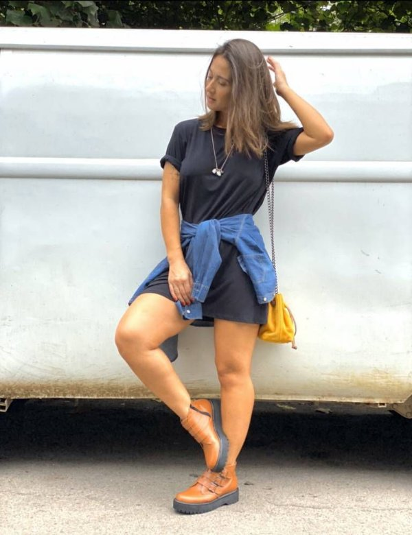 Vestido / Blusão - preto