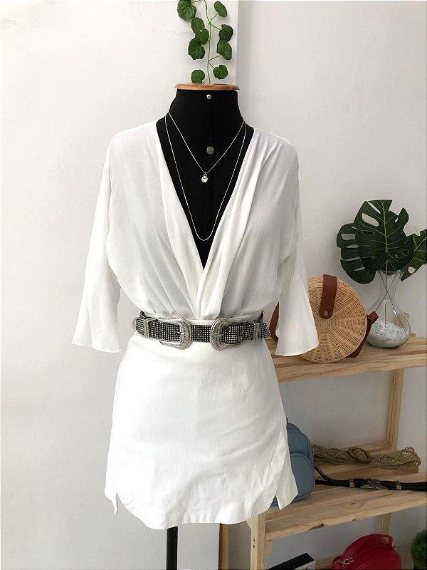 Cropped Amarração - Branco