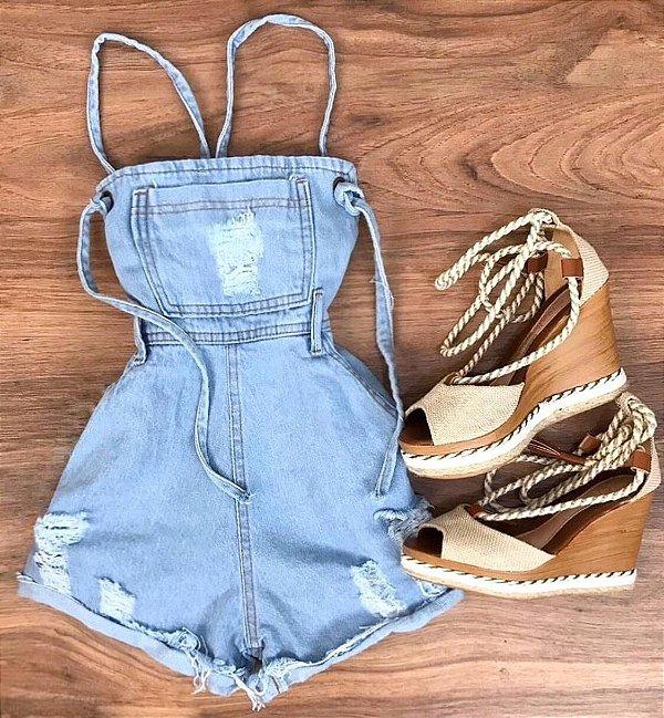 Macaquinho Jeans - Loren