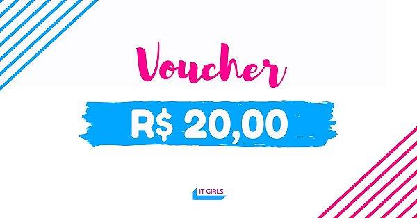 Vale compras no valor de R$ 20,00