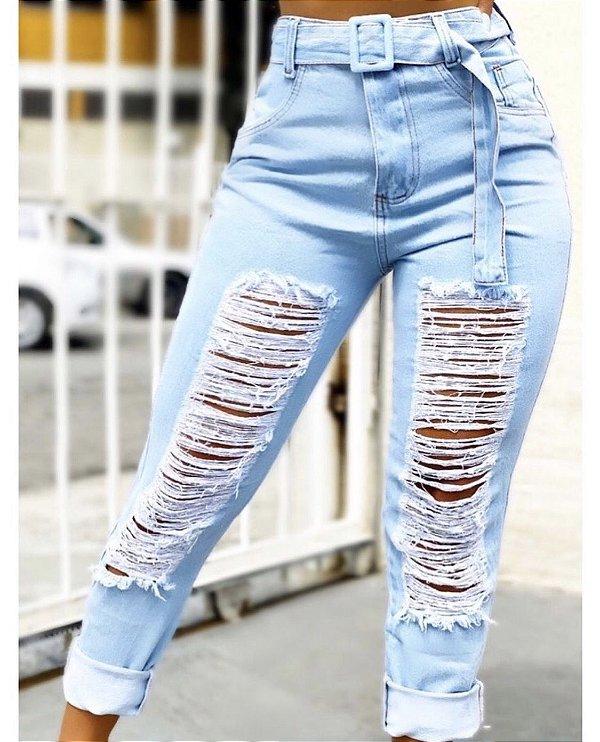 Calça Jeans Destroyed - Tauanne
