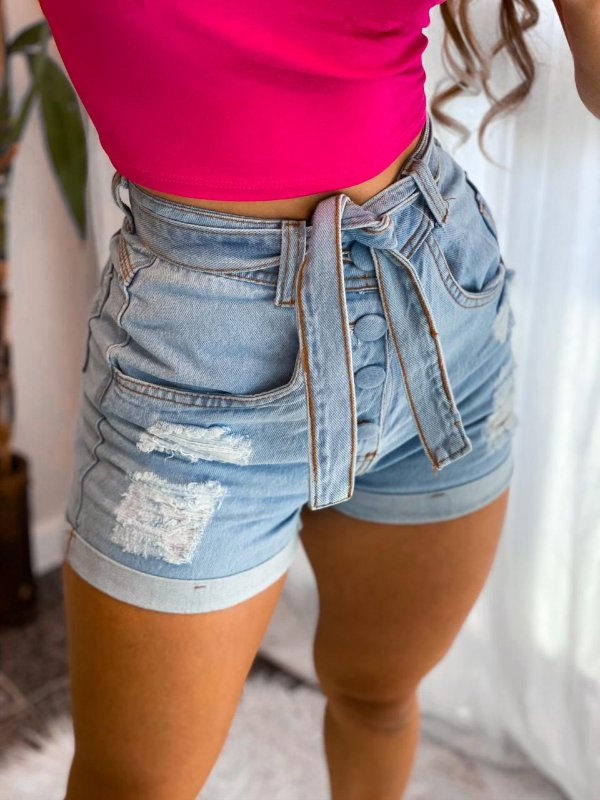 Shorts Jeans Social com botões