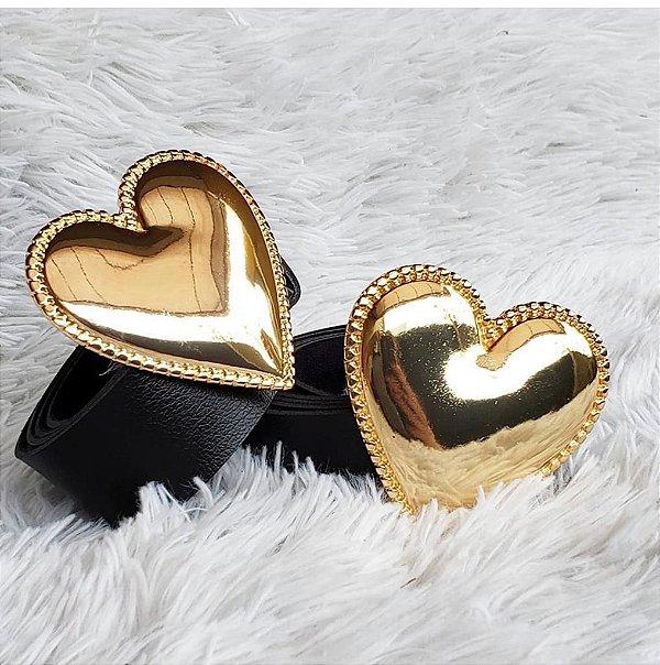 Cinto de coração dourado