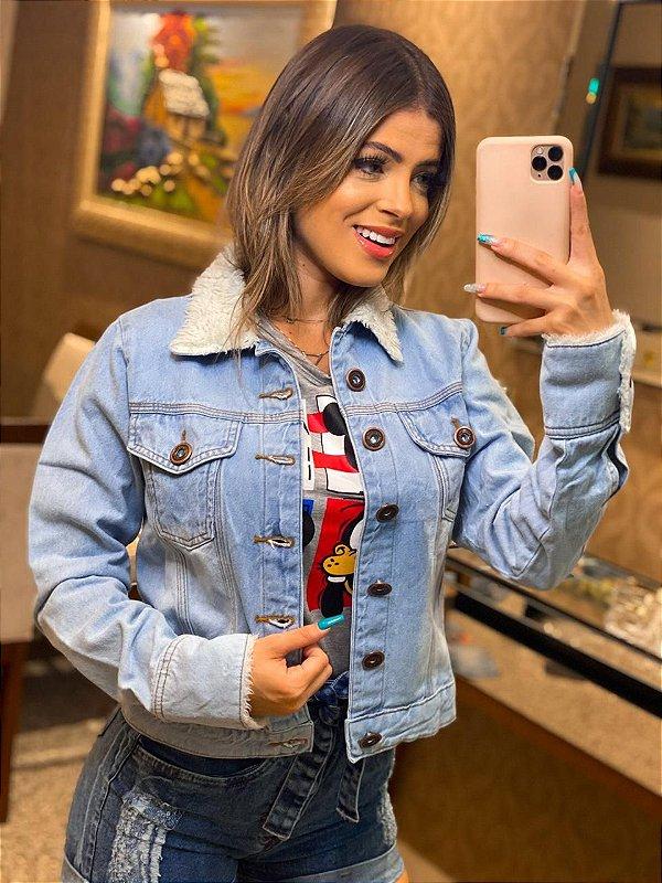 Jaqueta Jeans com pelo