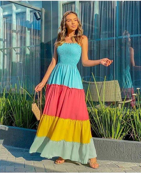 Vestido longo - Candy Colors