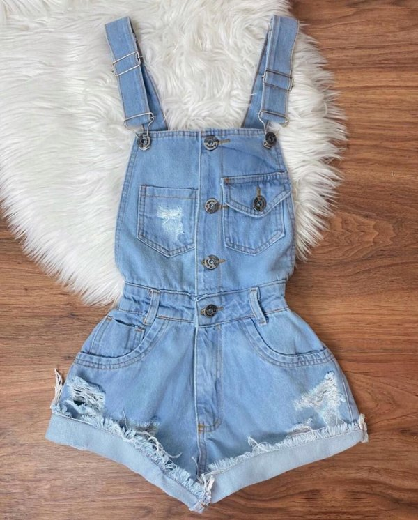 Macaquinho Jeans - Búzios