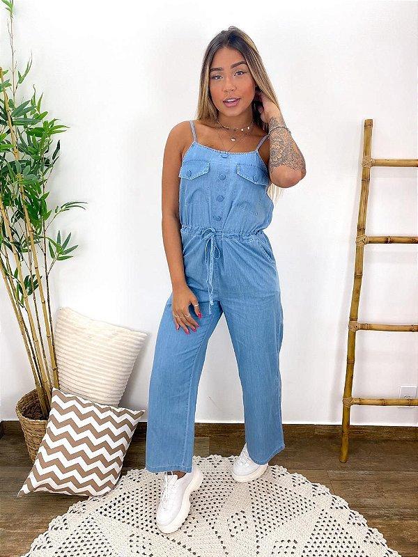 Macacão Jeans leve - Wall