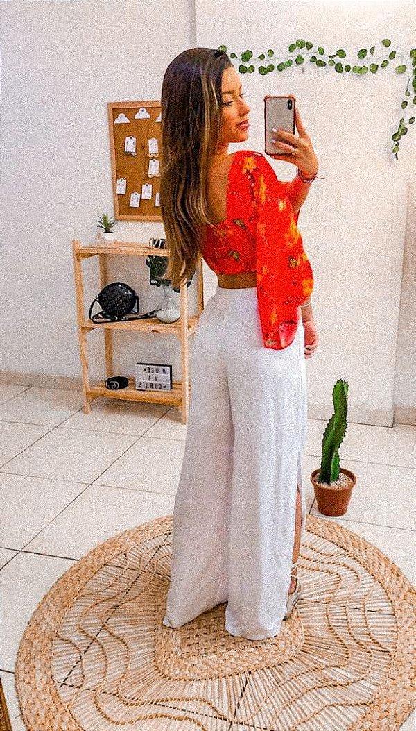 Pantalona white- Fendas