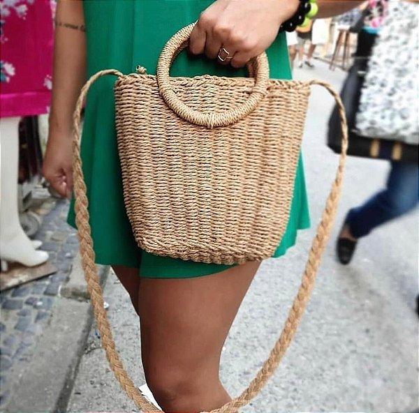 Bolsa de palha com alça Aro