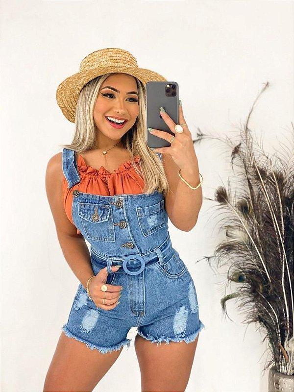 Macaquinho Jeans - Sabrina