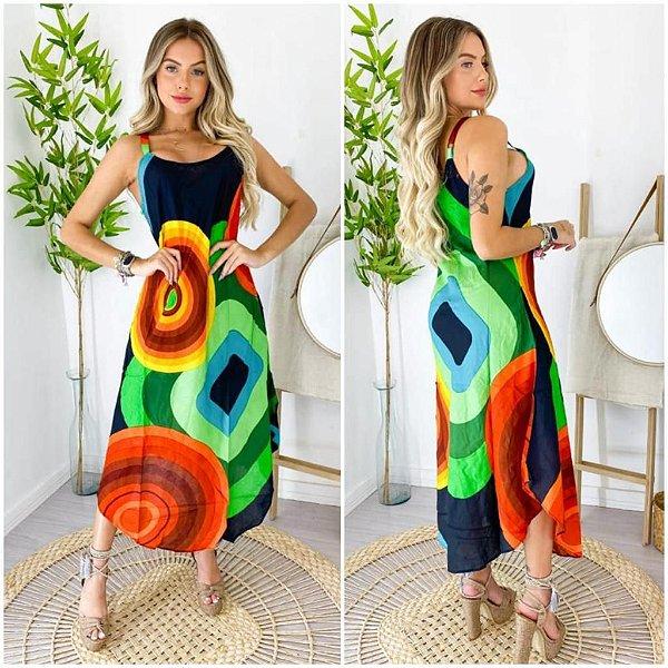 Vestido geometrico - Bianc