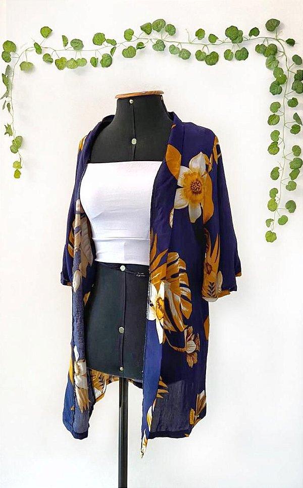 Kimono estampado - Costela de Adão