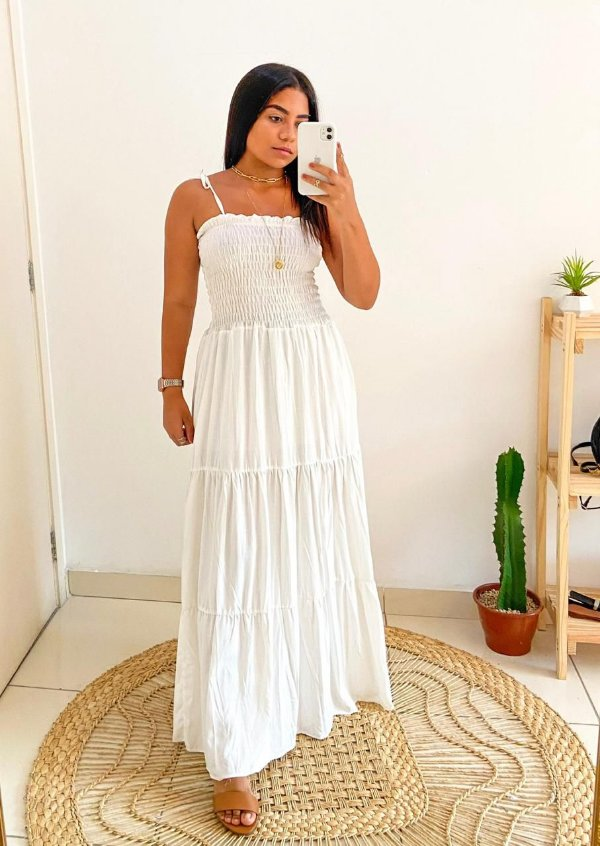 Vestido Laila - Branco