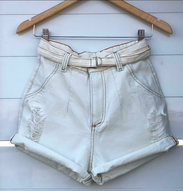Short Jeans branco - Dafine