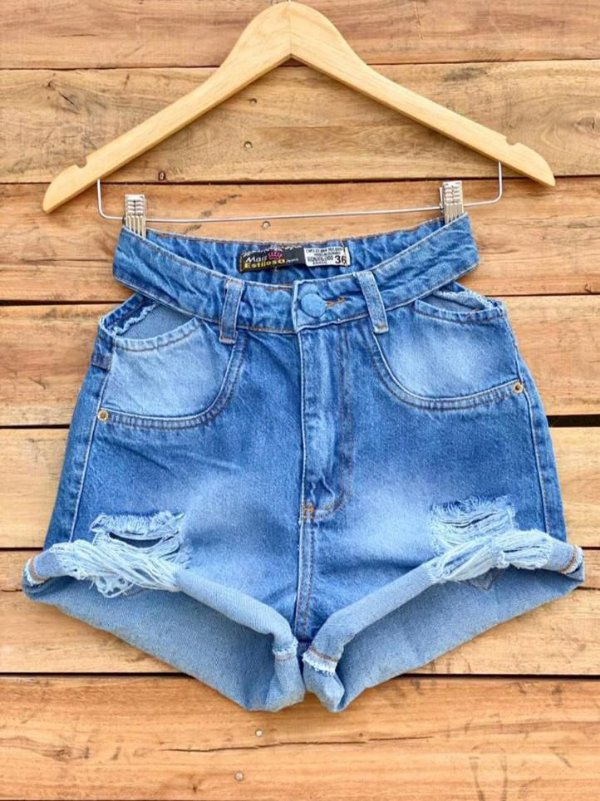Short Jeans - com recortes laterais