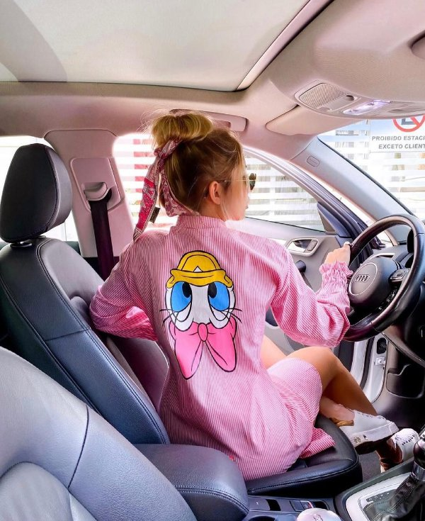 Chemise rosa listrada - Margarida