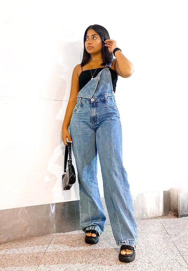 Macacão Jeans wide leg - Eloy