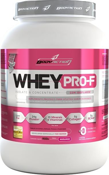 Whey Protein Feminino Isolado e Concentrado 900g BodyAction