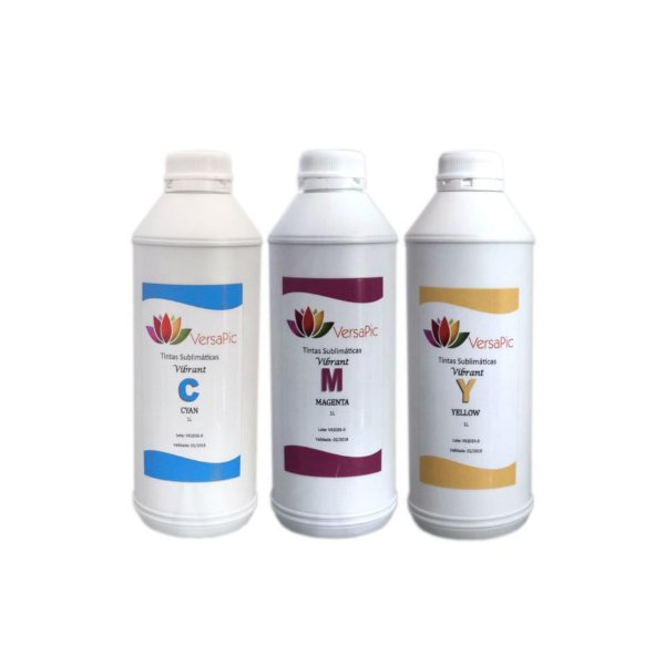 Kit Tintas Sublimáticas VersaPic Vibrant CMY 1000ml