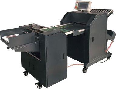 Vincadeira-Dobradora Industrial para Papel com Alimentação Automática e Marcadora de Vinco Final para Alta Produção_ Modelo:FlatFold