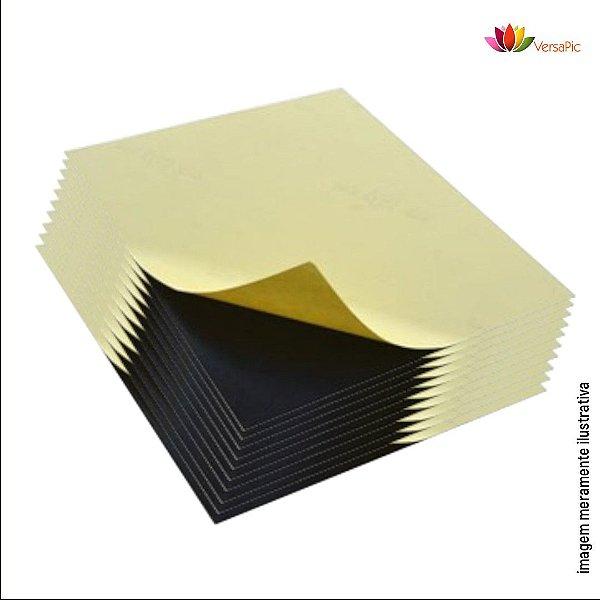 Cartão de PVC VersaPic Preto 0,5mm Autoadesivo PSA Dupla Face 100un. cód. 130003 - 130012