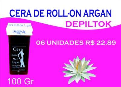 Cera De Roll-on Argan Depiltok 100 Gr