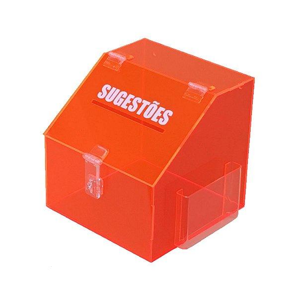 Caixa de sugestões laranja