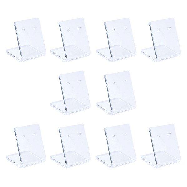 Expositor de brincos pequeno transparente - Kit 10 peças