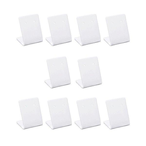 Expositor de brincos pequeno branco - Kit 10 peças