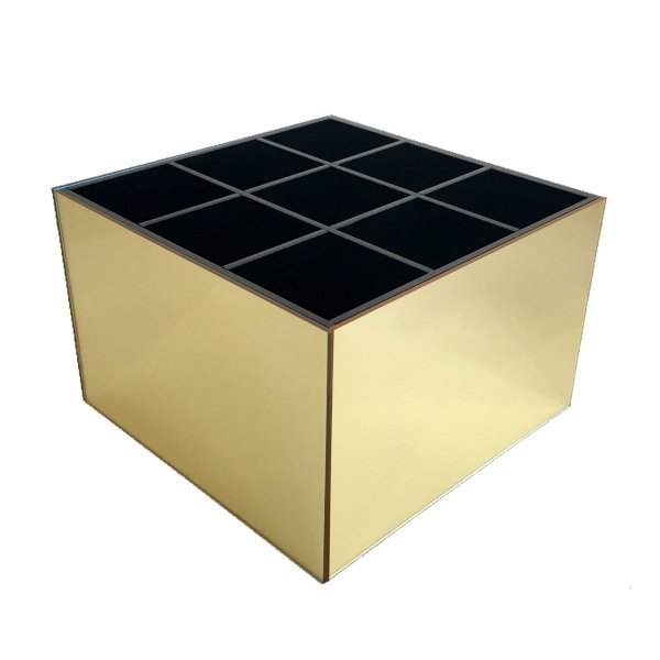 Porta pincel 9 divisórias - Dourado e preto